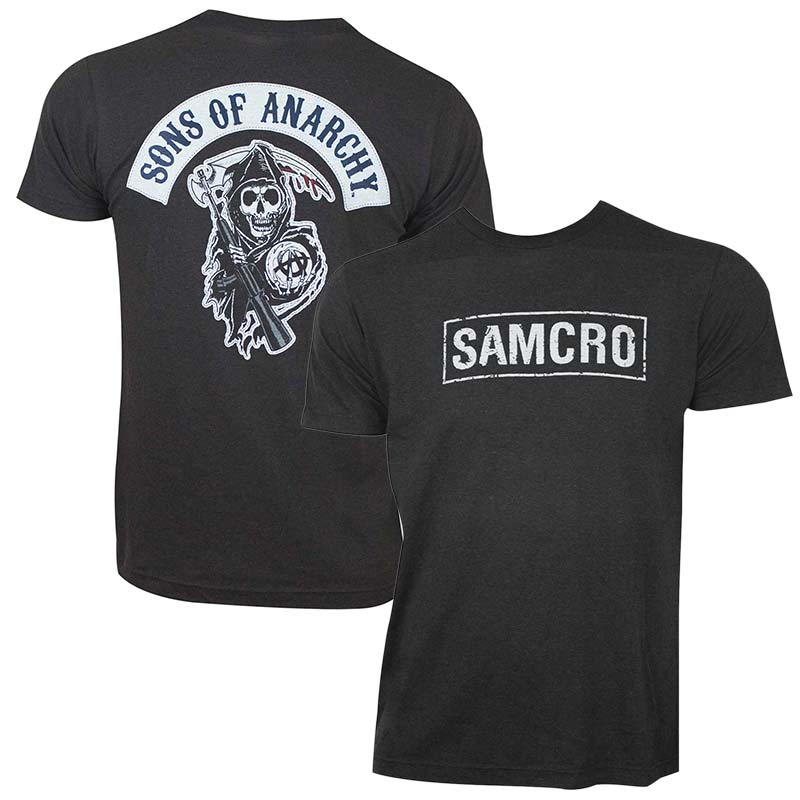 Sons Of Anarchy Men's Charcoal SAMCRO T-Shirt