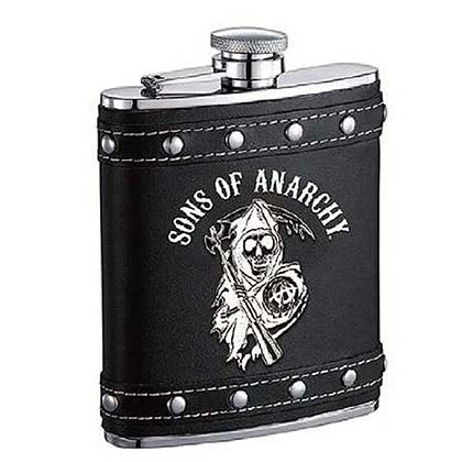 Sons Of Anarchy Studded Black Flask