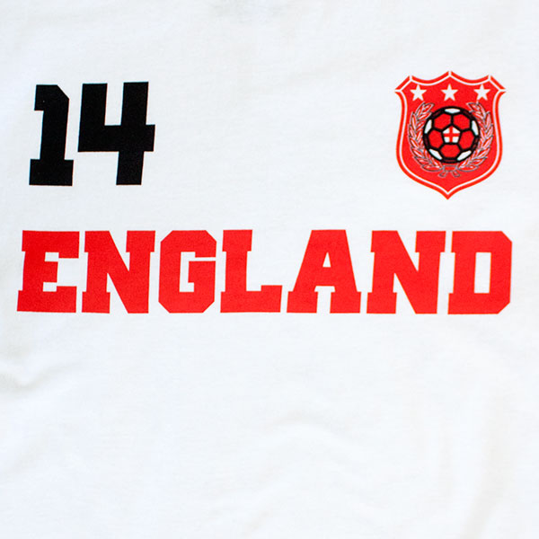 England Soccer Team World Cup Jersey Shirt