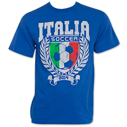 Italy Blue World Cup Soccer 2014 T-Shirt