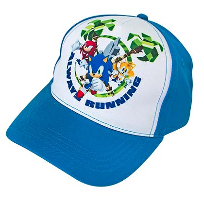 Sonic The Hedgehog Group Shot Blue White Youth Hat