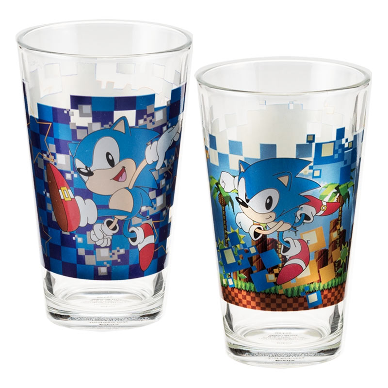 Sonic The Hedgehog Pint Glass Pair