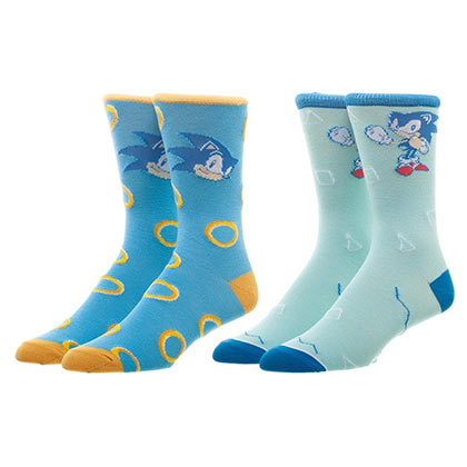 Sonic The Hedgehog Men's Crew Sock Set Of 2 Pairs