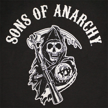 Sons Of Anarchy Reaper Arch Logo Black Graphic T Shirt