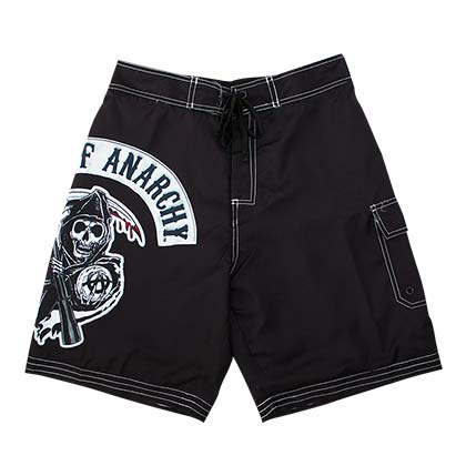 Sons Of Anarchy Men's Black SAMRCO Board Shorts