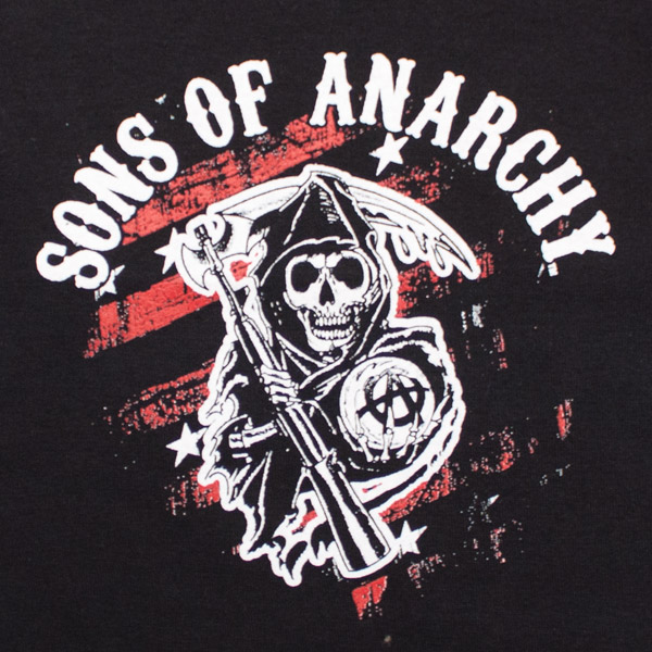 Sons Of Anarchy Red Black Reaper Logo Womens Tube Top