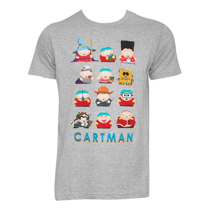 South Park Men's Grey Costumes Of Cartman T-Shirt