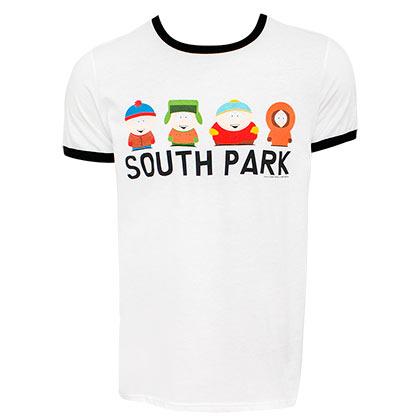 South Part Lineup Men's White Ringer T-Shirt
