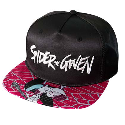 SpiderGwen Black Satin Hat