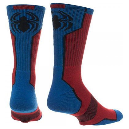 Spiderman Men's Red And Blue Crew Socks