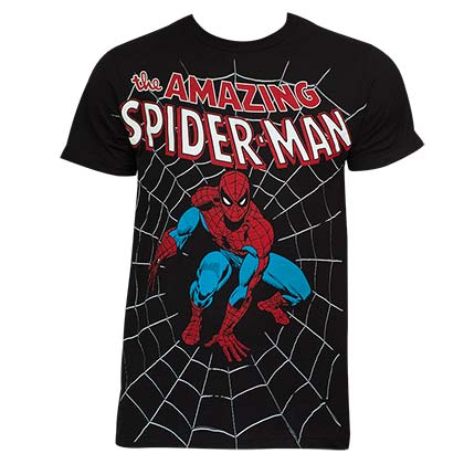The Amazing Spiderman Web Shirt Black