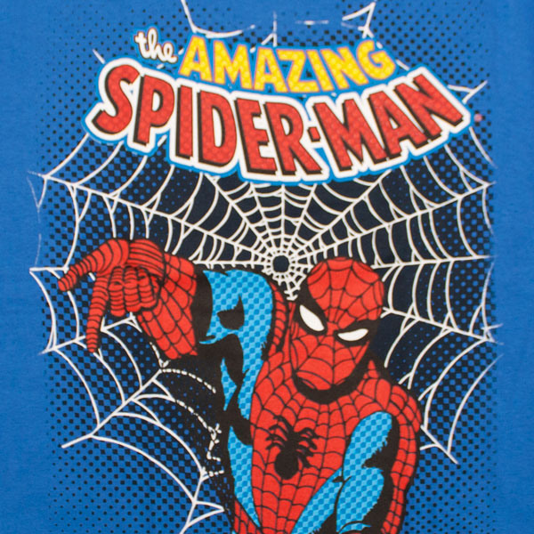 Classic Amazing Spider-Man Blue Boys Youth T Shirt