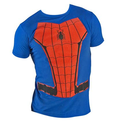 Spiderman Suit Up Blue Costume Tee Shirt