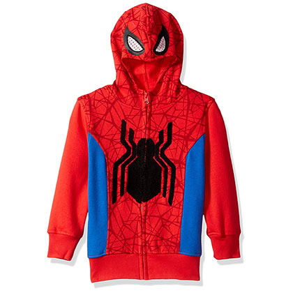 Spiderman Red Big Boys Costume Hoodie