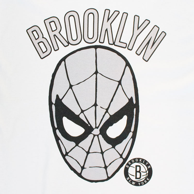 Spiderman Men\'s White Brooklyn Tee Shirt