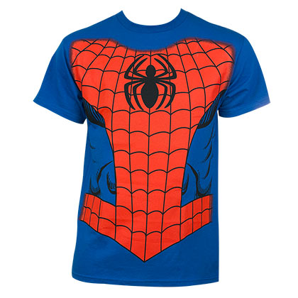 Spiderman Costume Halloween Blue Graphic T Shirt