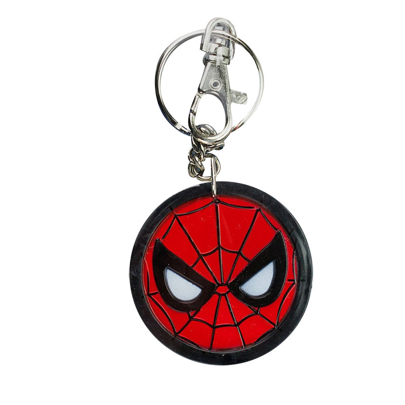 Spiderman Comic Circle Logo Bendable Keychain
