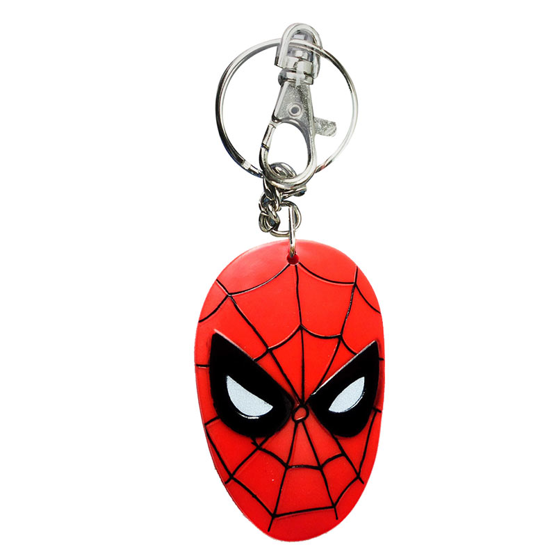 Spiderman Face Bendable Keychain