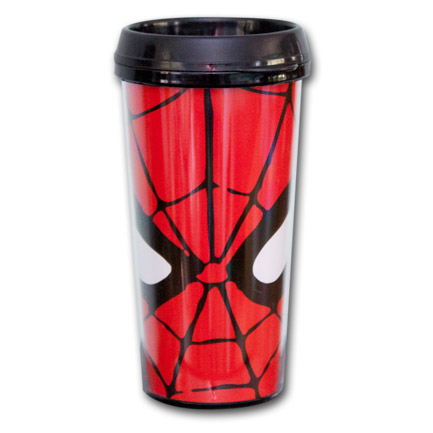 Spiderman Face Travel Mug