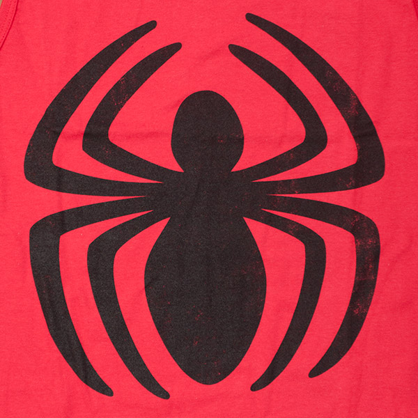 spiderman logo faded tank top teesforallcom