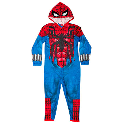 Spiderman Pajama Union Suit Men's Costume