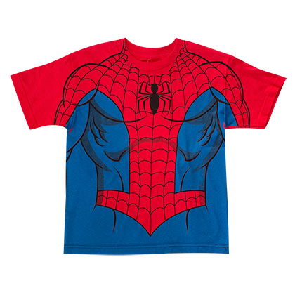 Spiderman Youth Red Costume T-Shirt