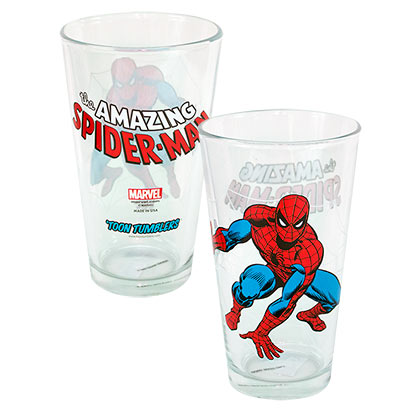 Spiderman Toon Pint Glass