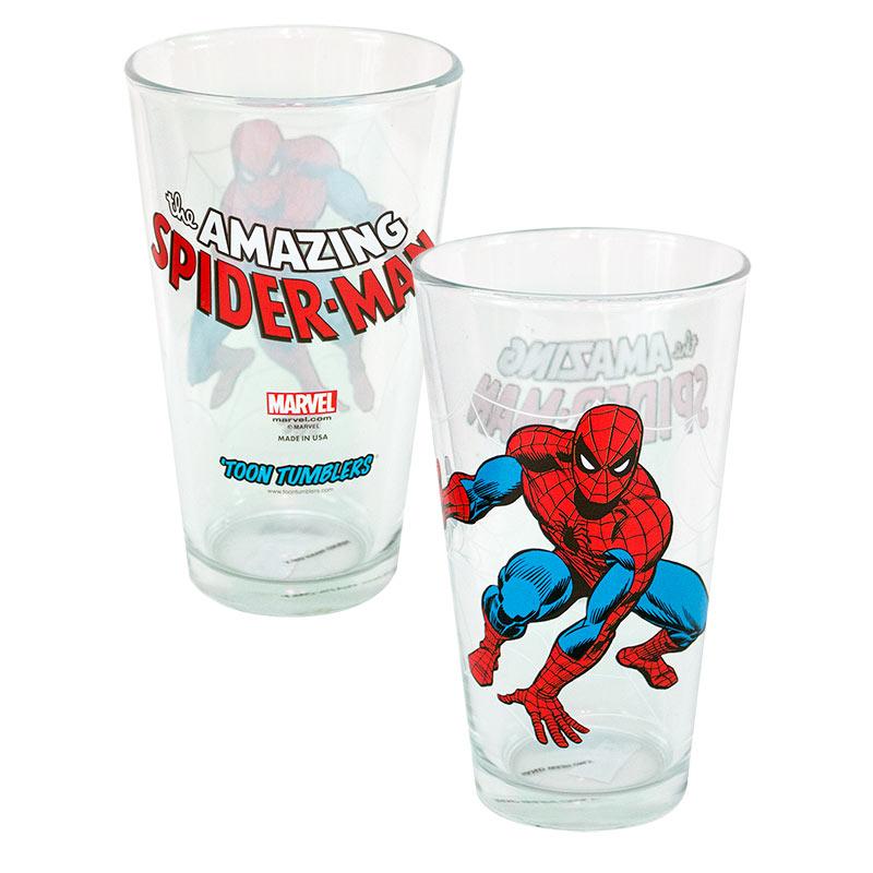 Spiderman Toon Pint Glass