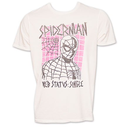 "Spiderman Junk Food Brand ""Web Status Single"" Tee"