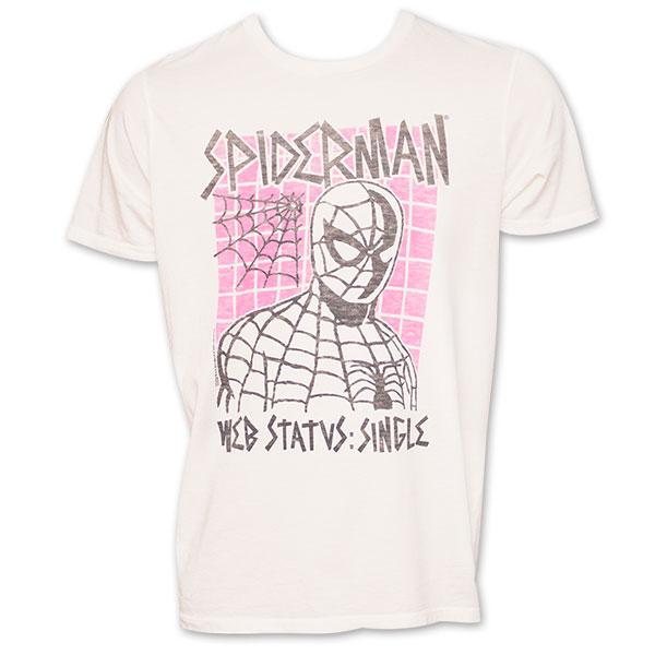 "Spiderman Junk Food Brand ""Web Status Single"" Shirt"