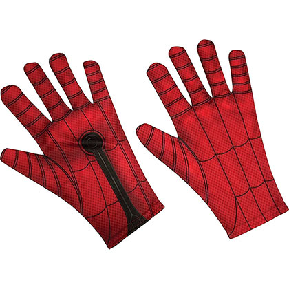 Spiderman Red Adult Costume Gloves