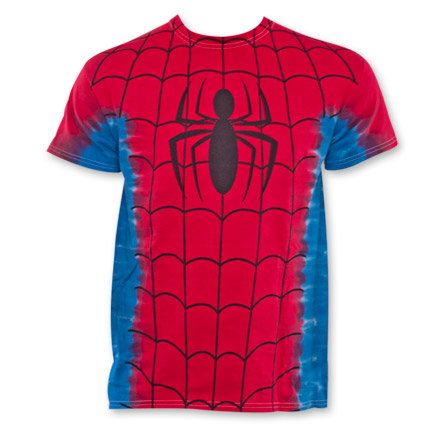 Spiderman Tie-Dyed Costume Fan Tee