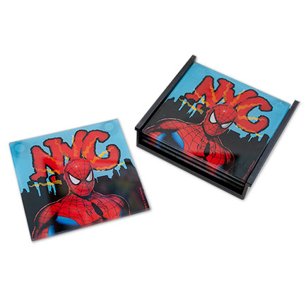 Spiderman Coaster 4 Piece Set NYC