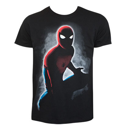 Spiderman Men's Black In The Dark T-Shirt