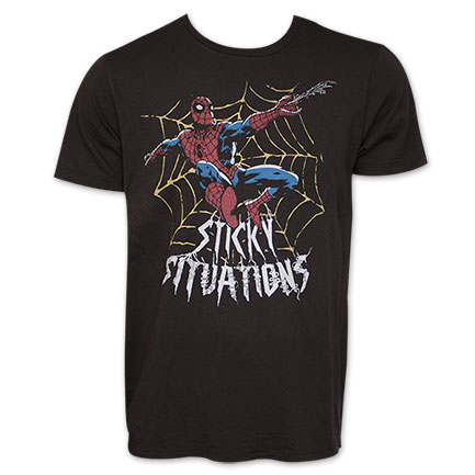 Spiderman Junk Food Brand Sticky Situations Tee