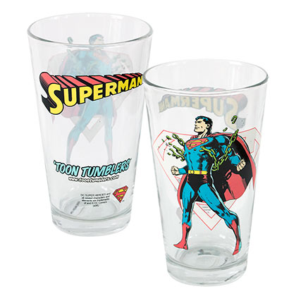 Superman Toon Tumbler Glass