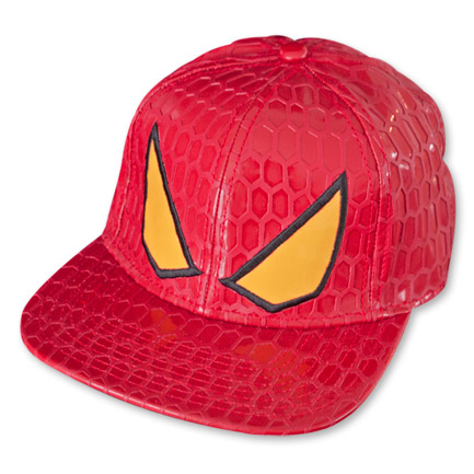 Spiderman Faux Snakeskin Snapback Hat