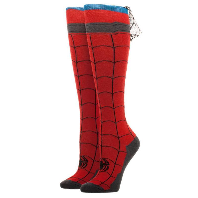 Spiderman Knee High Women's Red Costume Socks