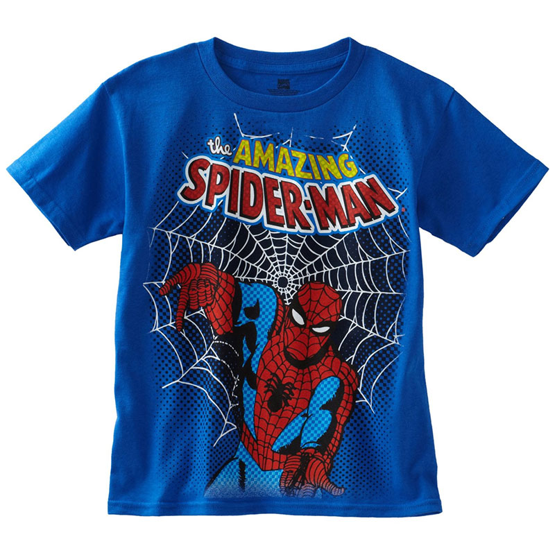 spiderman amazing retro royal blue boys 8 20 youth graphic