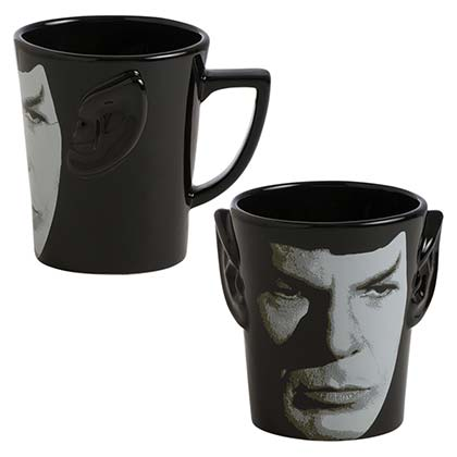 Star Trek Black Spock Ears Ceramic Coffee Mug