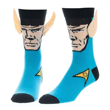 Star Trek Women's Spock Ears Crew Socks