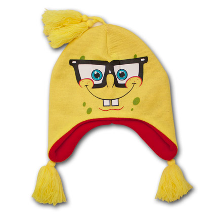 Spongebob Squarepants Nerd Knit Flap Beanie
