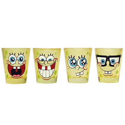 Spongebob Squarepants Shot Glass Set Of 4
