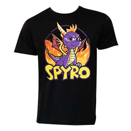 Spyro The Dragon Black Tee Shirt