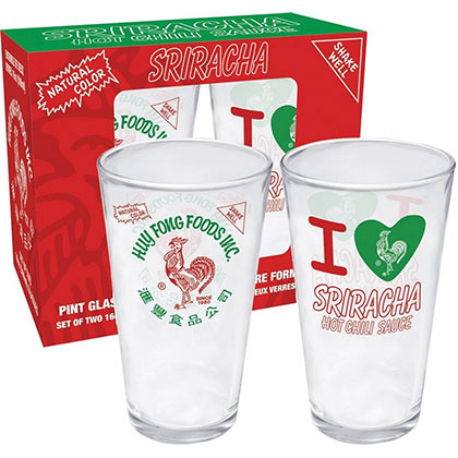 Sriracha Pint Glass Set