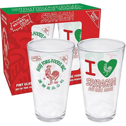 Sriracha Logo Pint Glasses