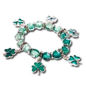 St. Patrick's Day Novelty Shamrock Charm Bracelet
