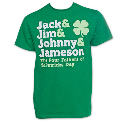 St. Patty's Day Four Fathers Green T-Shirt