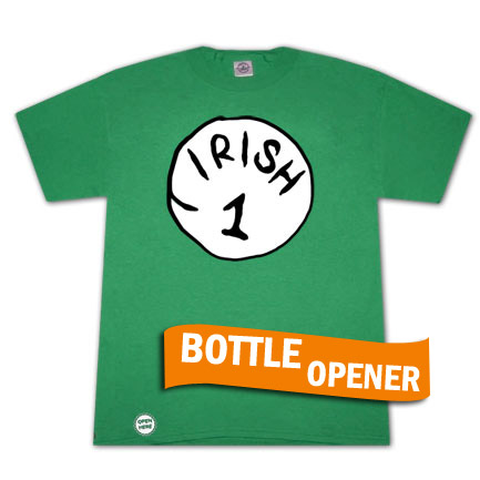 Irish 1 Bottle Opener Green Graphic TShirt