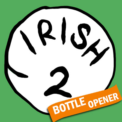 Irish 2 Bottle Opener Green Graphic T Shirt